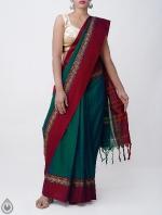 Shop Online Pure Handloom Narayanpet Cotton Saree with Tassels_1
