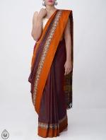 Shop Online Pure Handloom Narayanpet Cotton Saree with Tassels_2