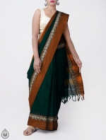 Shop Online Pure Handloom Narayanpet Cotton Saree with Tassels_5