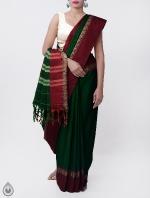 Shop Online Pure Handloom Narayanpet Cotton Saree with Tassels_6