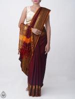 Shop Online Pure Handloom Narayanpet Cotton Saree with Tassels_7