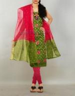 Online Bandhini Cotton Salwar Suit_45