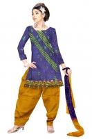 Tussar Silk Salwar Kameez_5
